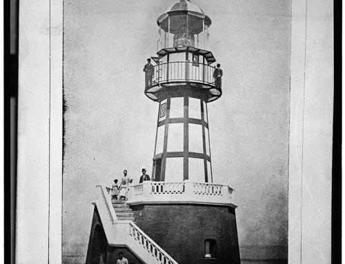 Antiguo faro del Castillo San Felipe del Morro, circa 1898