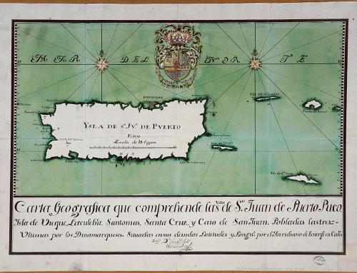 Carta geográfica que comprehende las yslas de San Juan de Puerto Rico (1739)