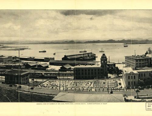 General view of harbor at San Juan, Porto Rico looking South (1927)