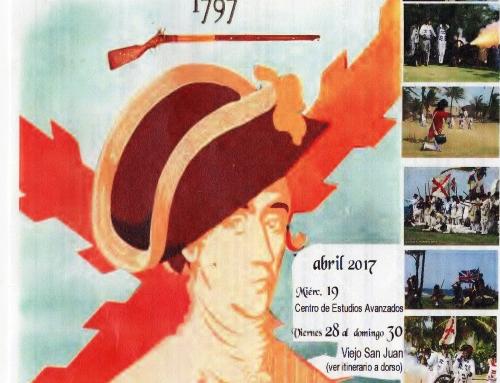Recreación del asedio británico a San Juan en 1797