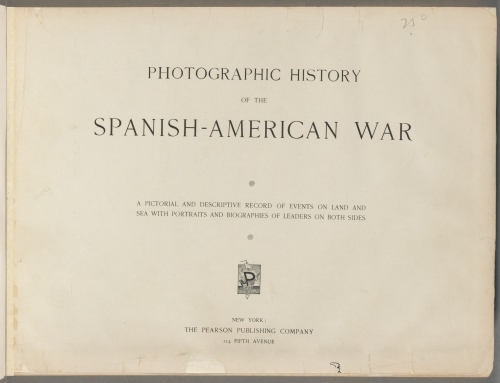 "Libro ""Photographic history of the Spanish-American War"", publicado en 1898"