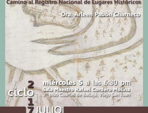 Charla por la Dra. Arleen Pabón Charneco sobre Puerta de Tierra