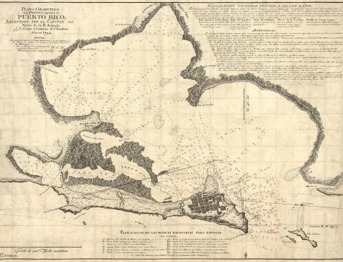 Plano geométrico del Puerto Capital de la isla de Puerto Rico (1794)