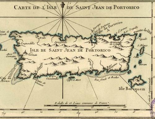 Carte de L'Isle de Saint Jean de Portorico (1764)