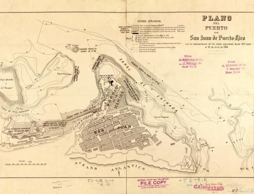 Plano del puerto de San Juan de Puerto-Rico: con la representación de las obras ejecutadas desde 1887 hasta el 30 de Junio 1894
