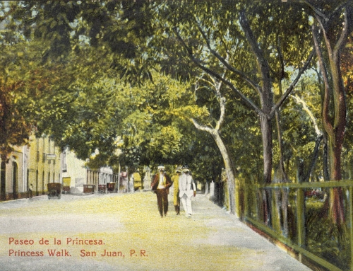 Postales del Paseo de la Princesa de principios del siglo XX.