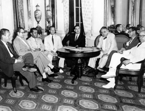 Visita a La Fortaleza de la primera Junta de Directores del Instituto de Cultura Puertorriqueña (1955)