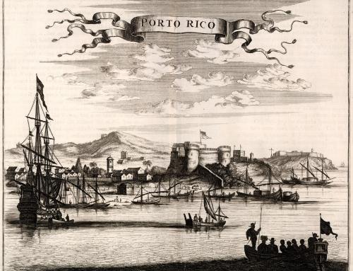 """Entrada a la bahía de la ciudad de """"Porto Rico"""" (1671)"""