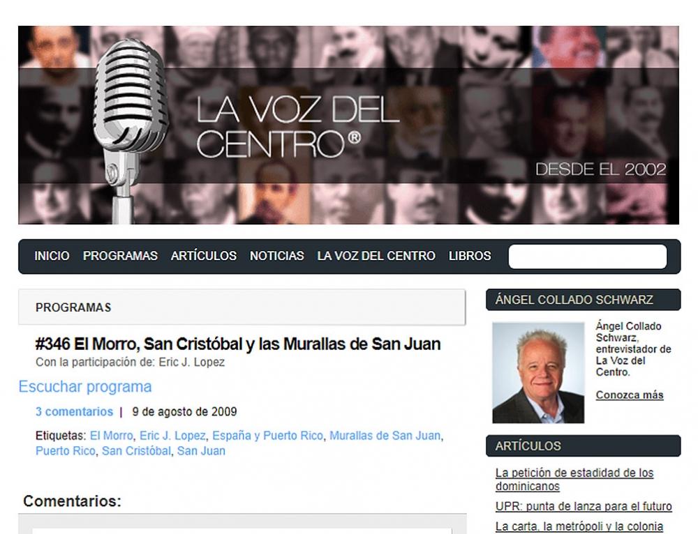 La Voz del Centro #346: El Morro, San Cristóbal y las Murallas de San Juan