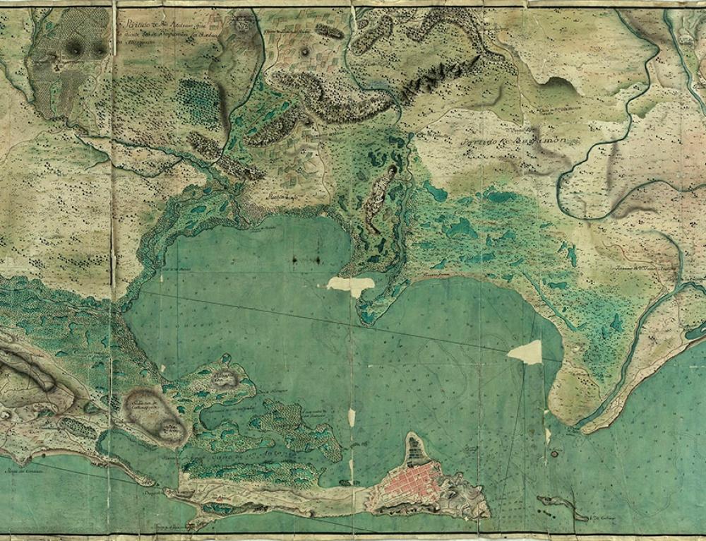 Mapa de la plaza de San Juan de Puerto Rico (1776)