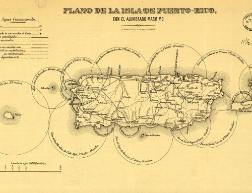 Plano de la isla de Puerto-Rico con el alumbrado marítimo (circa 1900)