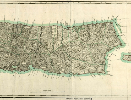 Mapa topográfico de la Isla de San Juan de Puerto Rico, y la de Bieque (1791)