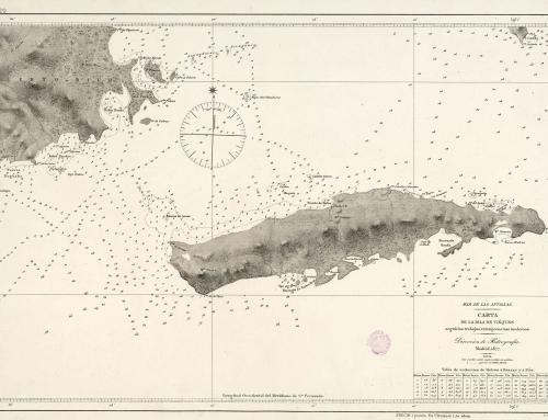 Carta náutica de la Isla de Vieques (1877)
