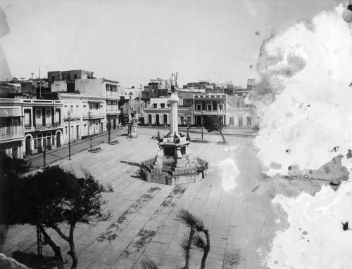 Plaza Colón, Viejo San Juan (entre 1898 y 1917)
