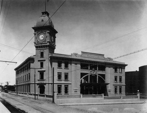 Antigua Estación del Tren en el Viejo San Juan (entre 1913 y 1917)