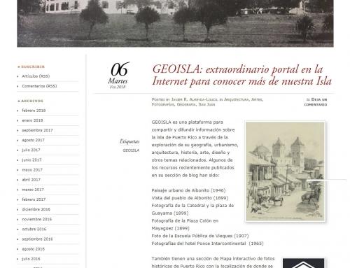 Reseña de GeoIsla en el blog Biblioteca Virtual de Puerto Rico