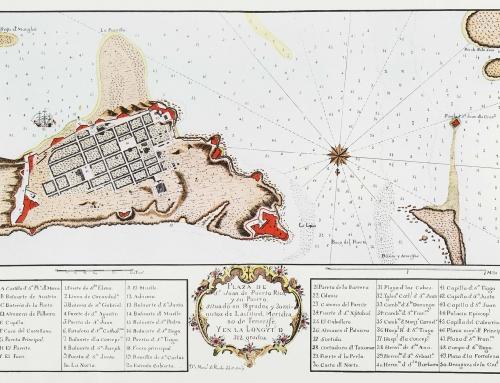 Mapa de la plaza de San Juan de Puerto Rico (c. 1766)