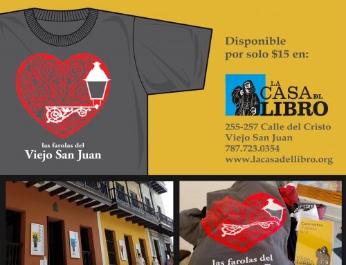 """Camisetas """"Amo las farolas del Viejo San Juan"""" disponibles en La Casa del Libro"""