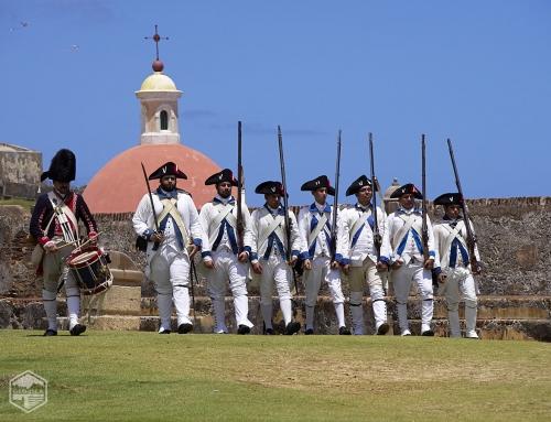 Fotos de la recreación del ataque británico de 1797