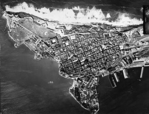 Foto aérea del Viejo San Juan (1930)