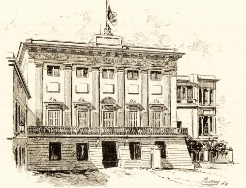 Dibujo de La Fortaleza (1877)
