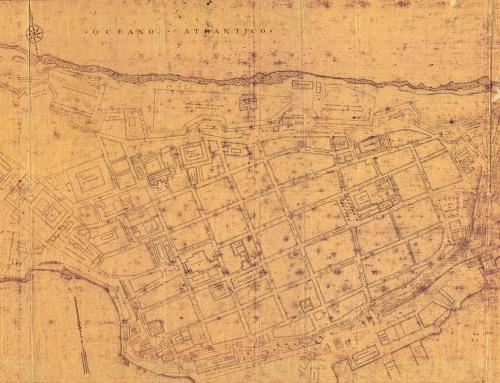 Plano de San Juan antes del derribo de las murallas en 1897 (1940)