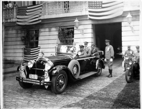 Charles Lindbergh en La Fortaleza (1928)