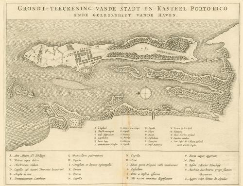 Mapa holandés de San Juan (1644)