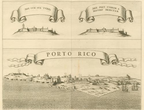 Vistas de San Juan Bautista de Puerto Rico en 1625 (1644)