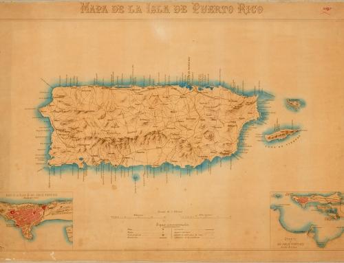 Mapa de la isla de Puerto Rico (c. 1898)*