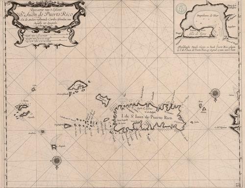Mapa holandés de San Juan de Puerto Rico (s. XVII)