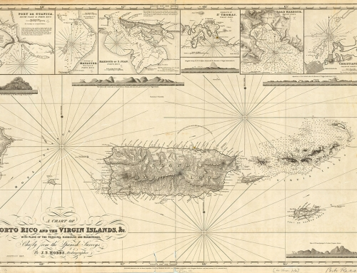 A chart of Porto Rico and the Virgin Islands (1857)