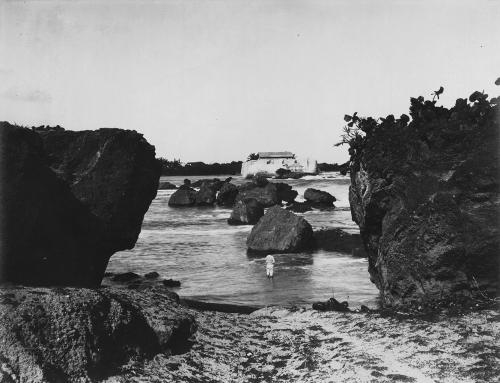 Vista del Fortín de San Jerónimo desde el Condado (entre 1898 y 1917)