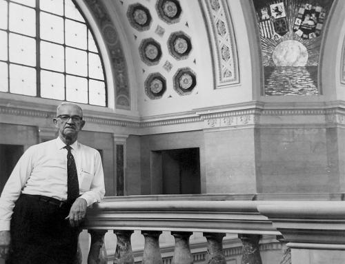 Arq. Rafael Carmoega en Capitolio de Puerto Rico (196?)