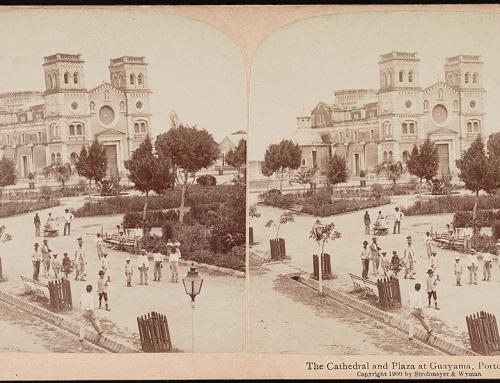 Iglesia y plaza de Guayama (1900)