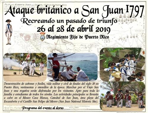Recreación histórica durante el aniversario 222 del asedio británico y defensa de San Juan de 1797