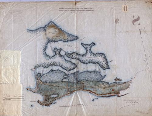 Plano de la zona extramuros de la isleta de San Juan (1871)