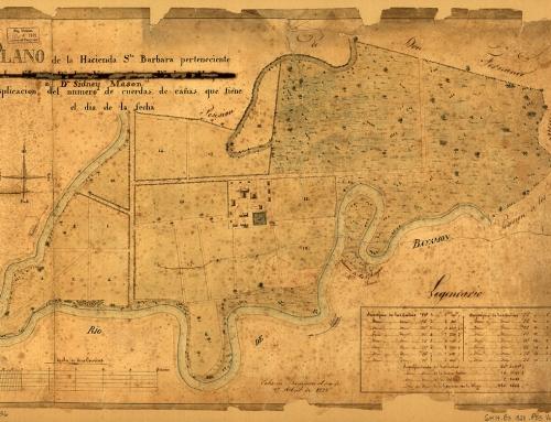 Plano de la hacienda Santa Bárbara en Bayamón (1828)