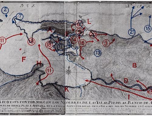 Mapa del ataque inglés a San Juan de Puerto Rico (1797)