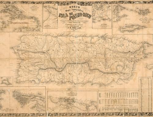 Nuevo mapa topográfico de la isla de Puerto Rico (1863)
