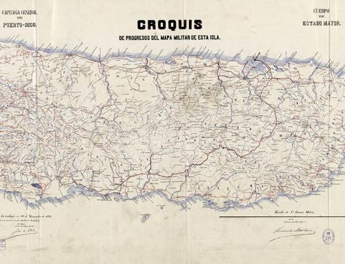 Croquis de progresos del mapa militar de Puerto Rico (1895)