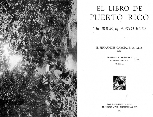 """El libro de Puerto Rico: The Book of Porto Rico"" (1923)"