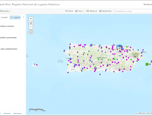 Mapa interactivo del Registro Nacional de Lugares Históricos (2015)