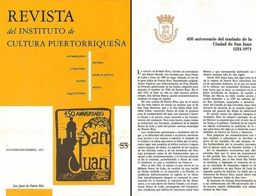 Revista ICP – 450 aniversario de San Juan (1971)