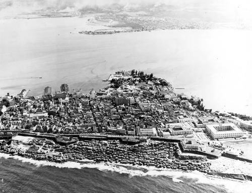 Vista aérea del Viejo San Juan (1952)