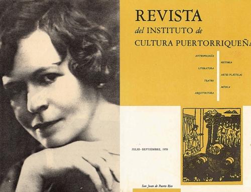 """""""La doctora Concha Meléndez"""" por Angel Luis Morales (1970)"""