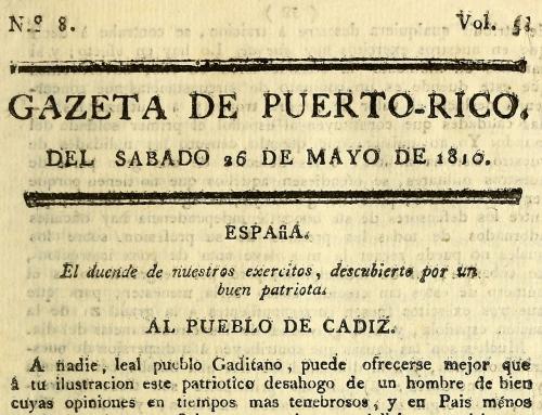 """Artículo """"La introducción de la imprenta en Puerto Rico y el primer periódico puertorriqueño"""" (1969)"""