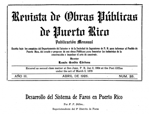 Desarrollo del Sistema de Faros en Puerto Rico (1926)