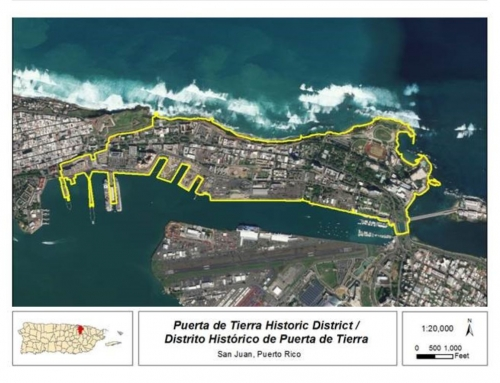 El sector Puerta de Tierra es incluido en el Registro Nacional de Lugares Históricos