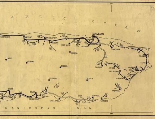"Mapa titulado ""Railroad Map of Porto Rico"" (1924)"